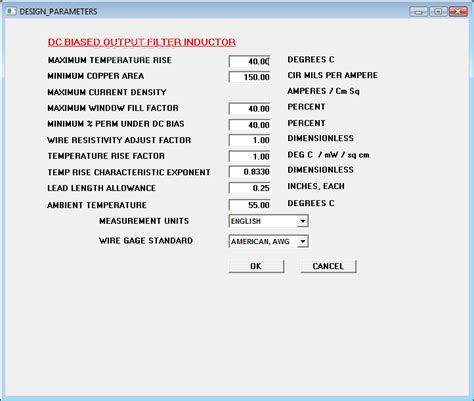 micrometals inductor design software micrometals inductor design for power filter