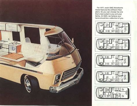 Interior Of Homes Pictures 1977 gmc motorhome sales brochure
