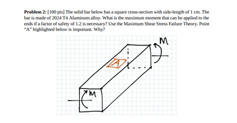 5 c sections safe solved problem 2 100 pts the solid bar below has a squ