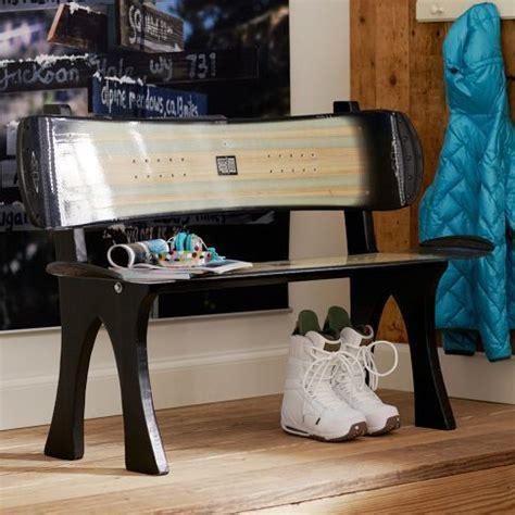 Snowboard Bedroom Decor by Snowboard Bench Neat Idea I My Fiance Has An