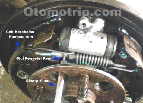 Switch Rem Mobil langkah menyetel rem tangan mobil atau rem tromol