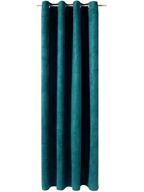Rideau Bleu by Rideau Velvet Coloris Bleu Paon 140 X 260 Cm Paon Bleu