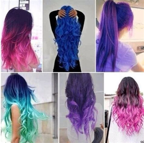Bright Color Ombre Hairstyles | bright ombre hair colors luv the dark and pink