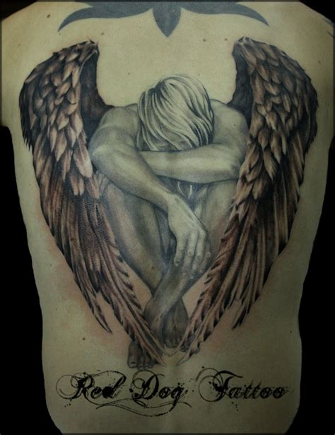 angel tattoo at the back simple guardian angel tattoos for women www imgkid com