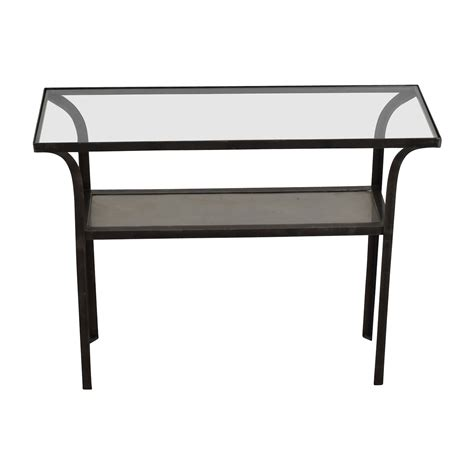 black metal and glass sofa table black glass console table affordable topeakmart modern