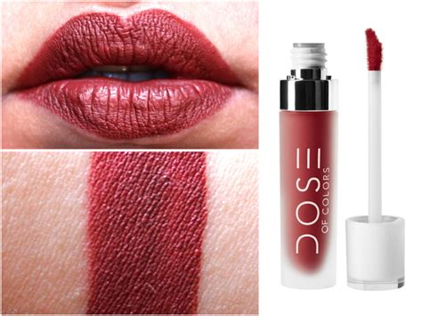 dose of colors swatches dose of colors matte liquid lipstick brick review swatches