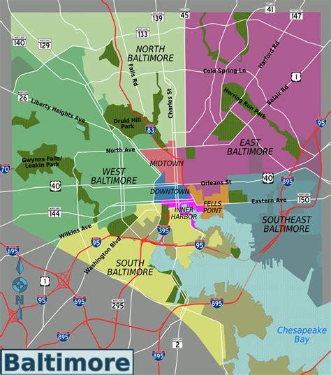 map of baltimore usa baltimore travel guide at wikivoyage