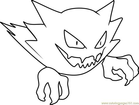 pokemon coloring pages of gastly haunter pokemon coloring page free pok 233 mon coloring