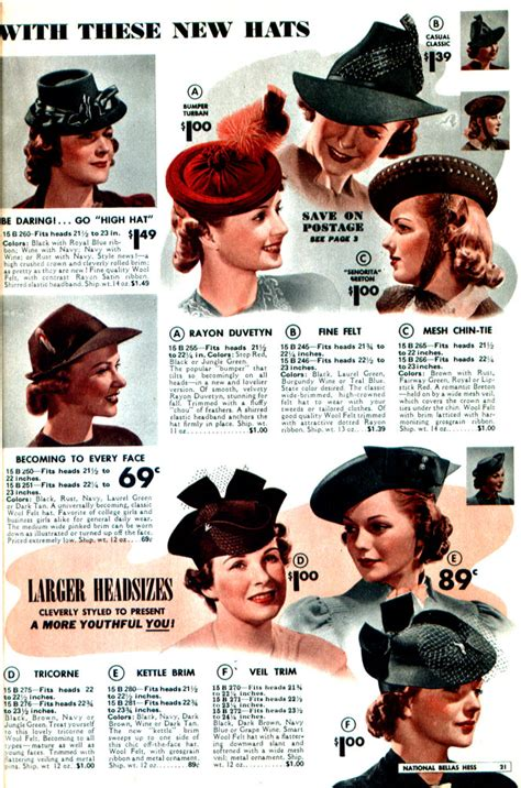 how to make a 1940 style hat hats 1940 vintage fashion style color photo print ad model