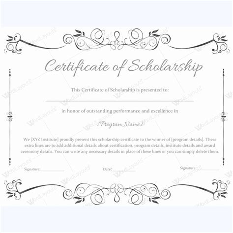 certification letter for scholarship 89 award certificates for business and school events