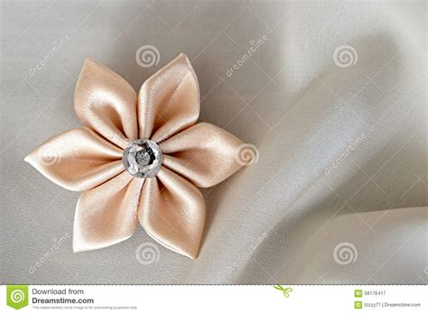 Silk Fabric Flowers Handmade - handmade silk fabric flower stock photo image 58176417