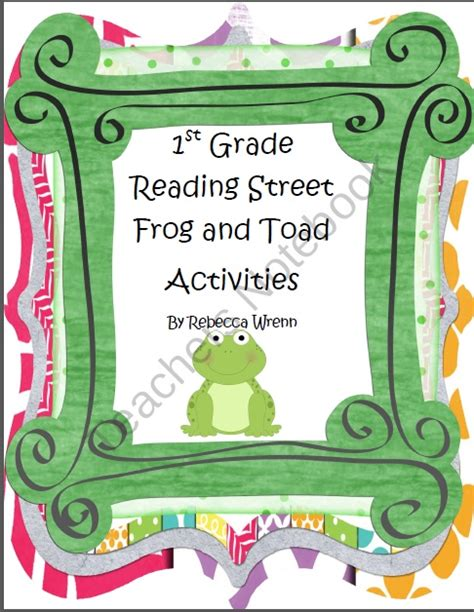 reading street themes 17 best images about frog and toad activities on pinterest