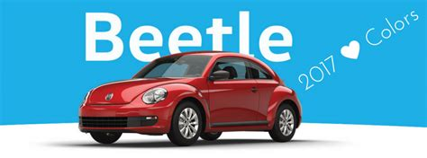 volkswagen beetle colors 2017 2017 volkswagen beetle interior and exterior color options