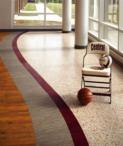 commercial interior flooring design of central high school