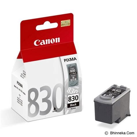 jual canon black ink cartridge pg 830 murah bhinneka