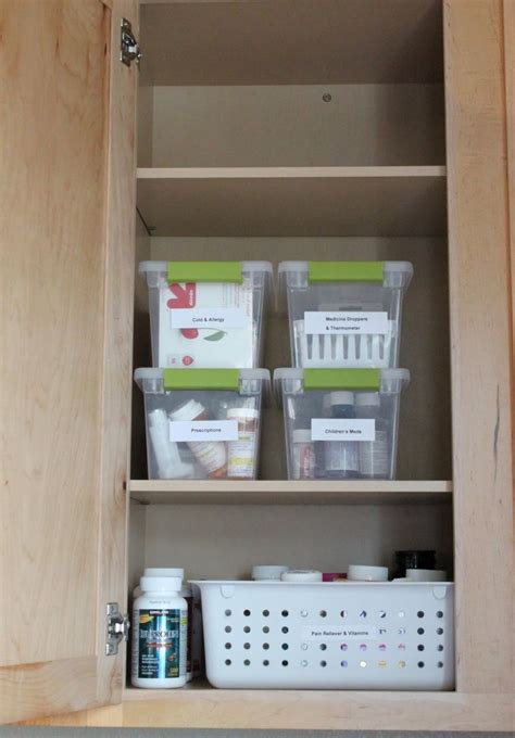 Organize Medicine Cabinet | 13 best images about cabinet organization on pinterest