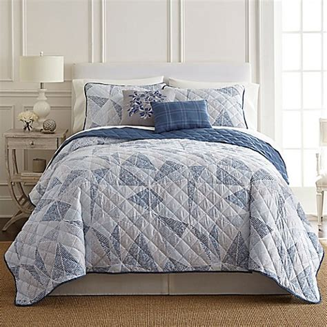 pacific coast pillows bed bath beyond pacific coast textiles dillon quilt set in blue bed bath