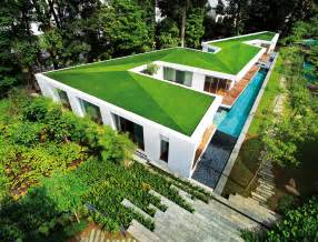 Tropical asian house zig zag house singapore ministry of design