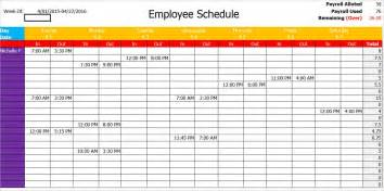 77 work schedule templates word excel pdf creative