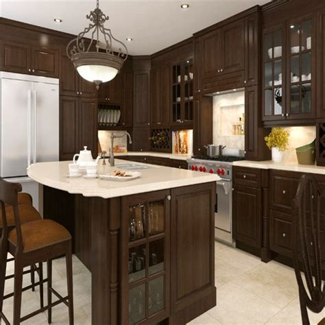 coffee color kitchen cabinets espresso coffee color modern design modular solid wood