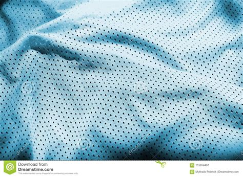 blue sport clothing fabric texture background top view