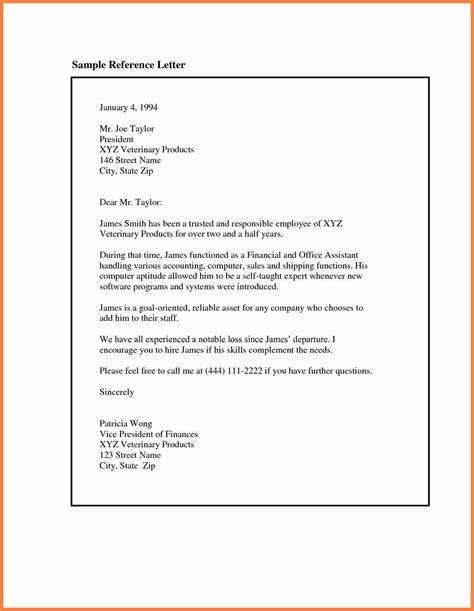 free letter of recommendation template 9 exles of recommendation letters for employment