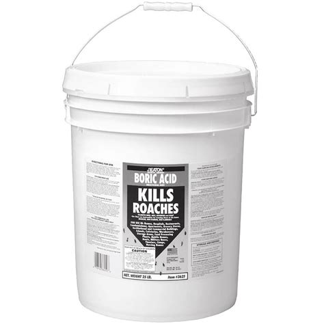 jt eaton 25 lb boric acid insecticidal dust in resealable