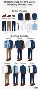 13 item interchangeable wardrobe infographic one week