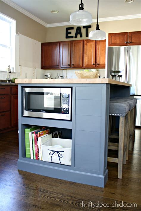 microwave in kitchen island microwave in the island finally from thrifty decor chick