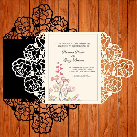 Silhouette Cameo Card Templates by Invitation Of The Wedding Card Template Lace Folds Studio