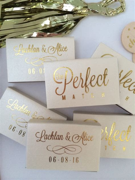 Wedding Box Matches by Personalized Wedding Matches Custom Printed Lots Of Colors And