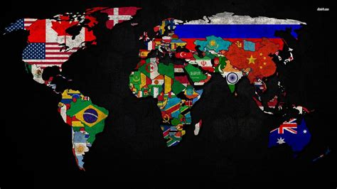 flags of the world wallpaper world map and flags wallpaper