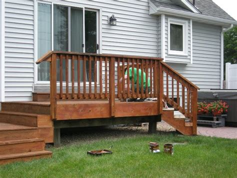 Small Home Designs With Deck Outdoor Staining A Small Deck Some Steps For Staining A