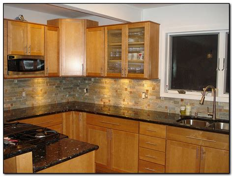 Countertops For Oak Cabinets by Oak Cabinets With Granite Countertops Home And Cabinet