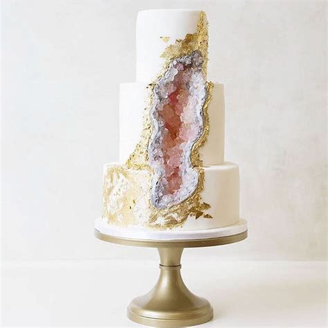 Big Wedding Cakes by This New Geode Wedding Cake Trend Is Rocking The