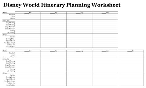 printable disney world planning sheets easy guide easywdw