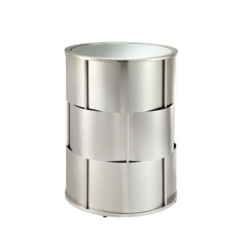 metal barrel side table homesullivan euneva metal and mirror barrel side table in