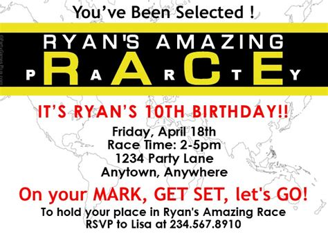 amazing race templates amazing race invitation template wallpaper
