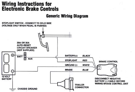 tekonsha electric trailer brake controller wiring diagram
