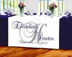 Wedding Banner For Table by Personalized Wedding Table Runners