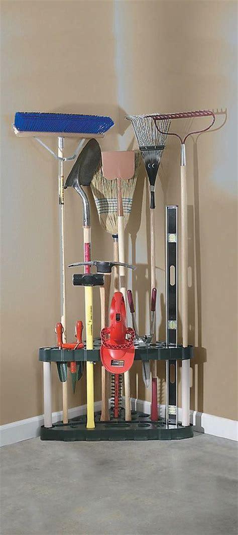 garden tool rack garage corner organizer shed storage