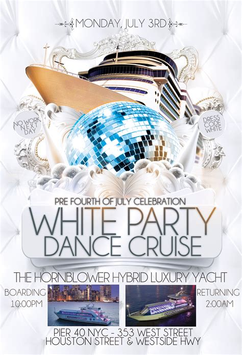 boat party nyc july pre 4th of july white party dance cruise nyc tickets mon
