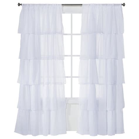 Xhilaration Ruffle Curtain Panel 50x84 Quot Target