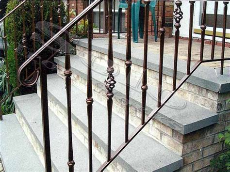 outside banister railings wrought iron stair railing exterior outdoor wrought iron