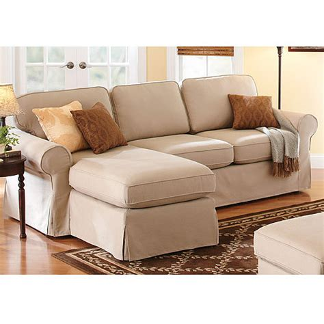 sectional couch walmart better homes and gardens slip cover chaise sectional