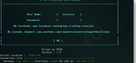 kali linux ddos attack tutorial ddos script the best script for your kali linux system