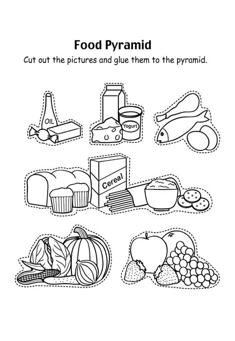 preschool coloring pages nutrition food pyramid with fruit and and other coloring pages