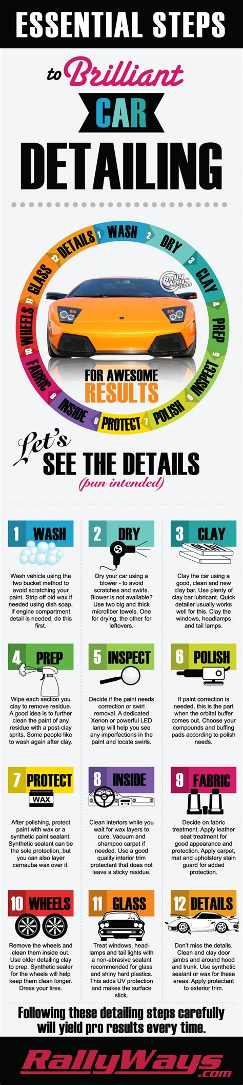 steps for car complete professional car detailing step by step process