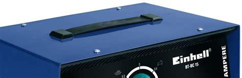 Motorrad Batterie Ladespannung by Einhell Bt Bc 15 Batterieladeger 228 T 6 V 12 V 24 V