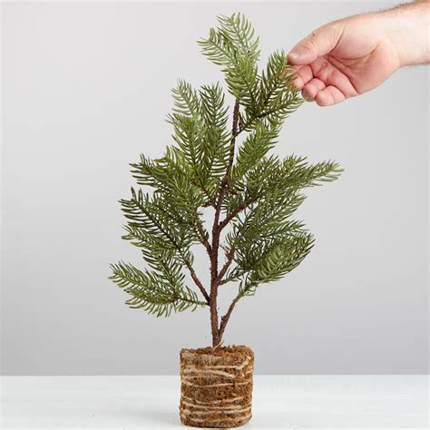 artificial pine tree topiary table and shelf sitters
